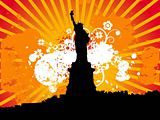 Black statue of liberty vector illustration