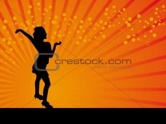 classical dancer vector orange background