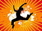 Jumping dance vectorial illustration
