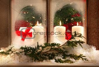 Three window candles