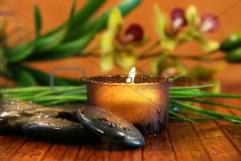 Amber candle