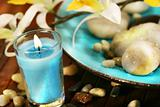 Blue aromatherapy candle