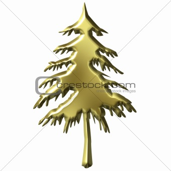 3D Golden Tree