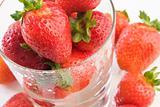 Glass of strawberries