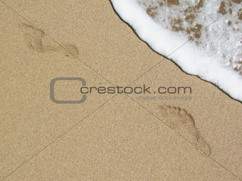 Footprints and crestwaves