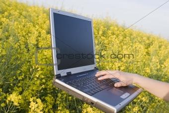 Floating laptop