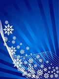 Blue snowflake theme vector background