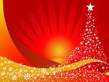 Christmas vector illustration background with snowflakes
