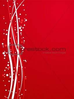 Grunge abstract vector illustration background in red