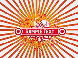 Sample text abstract background