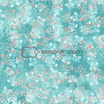 clear fresh blue multi layered floral background with texture