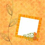 Distressed background with decorative floral frame