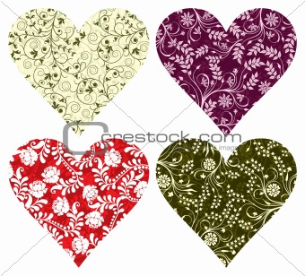 Valentine backgrounds, hearts, vector