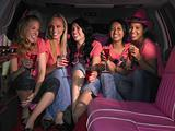Five women sat in limousine