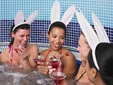 Four women in hot tub