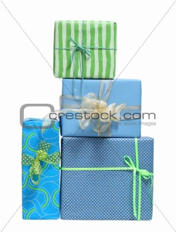 Boxs tied with a ribbon bow