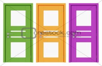 Three modern doors