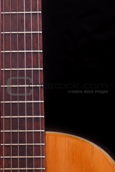 Classic Guitar (Spanish) fretboard, black background.