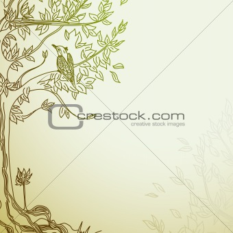 background with tree