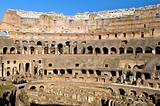 Ruins of  Colosseum, Rome, Italy