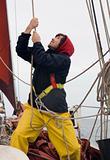 Young sailor at work