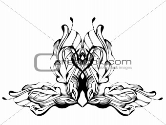 a abstract graphic design in black and white