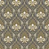 vector seamless background of gold pattern on a silver backgroun