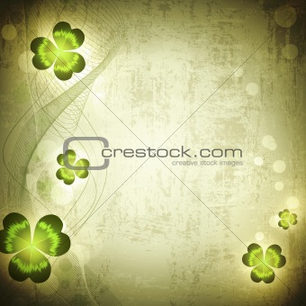 St.Patrick holiday Vintage grunge background