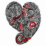 detailed decorated heart