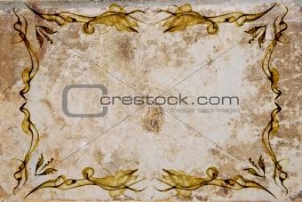 Old paper frame