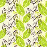 Leaf green spring pattern
