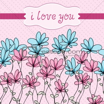Flower love card