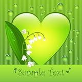 Lily of the valley summer love greeting card
