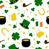 Seamless Saint Patrick&#39;s background