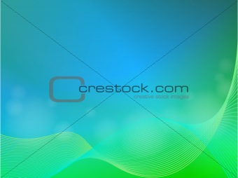 EPS 10 Green blue abstract light background with wave