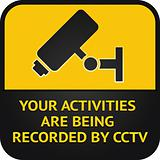 CCTV pictogram, video surveillance sign