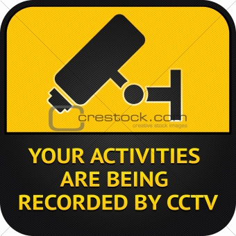 CCTV pictogram, video surveillance sign