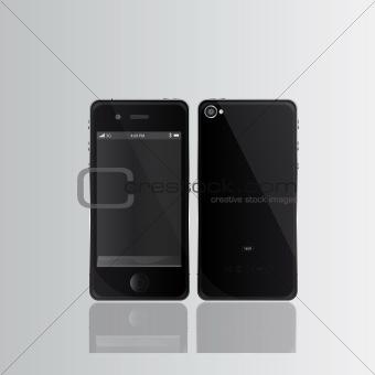Black smart phones