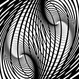 Abstract swirl movement illusion.