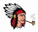 Native american brave