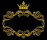 Retro frame with royal crown