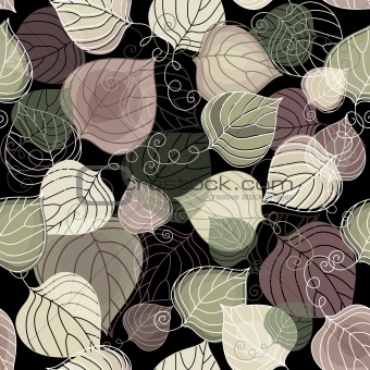 Dark autumn seamless pattern