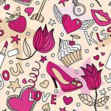 seamless female love pattern