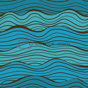 Seamless sea waves pattern