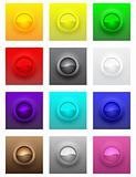 Colorful convex glossy buttons vector set
