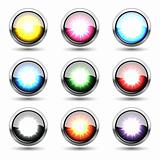 Colorful metal buttons &quot;plosion&quot; set