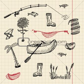 Sketch fishing set