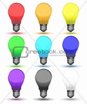 Color set of bulbs for your design