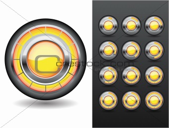 Orange loading button