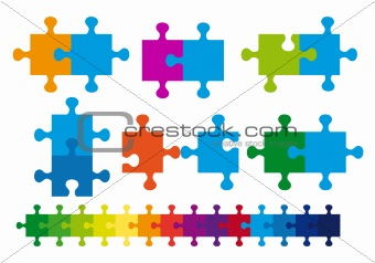 jigsaw puzzle, vector